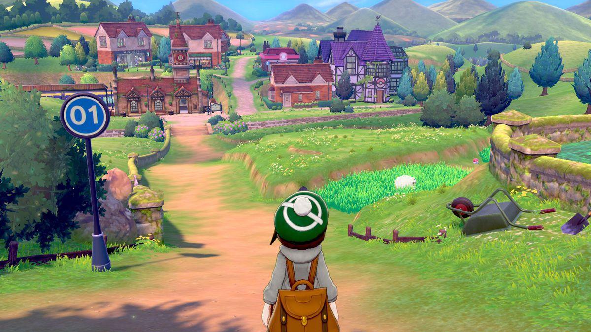 Pokemon Espada y Escudo Recorriendo una ciudad - Video
