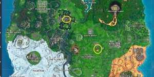 Fortnite: Toca un cubo brillante gigante, entra en la grieta sobre el lago y busca una cápsula de aterrizaje dentro de un meteorito