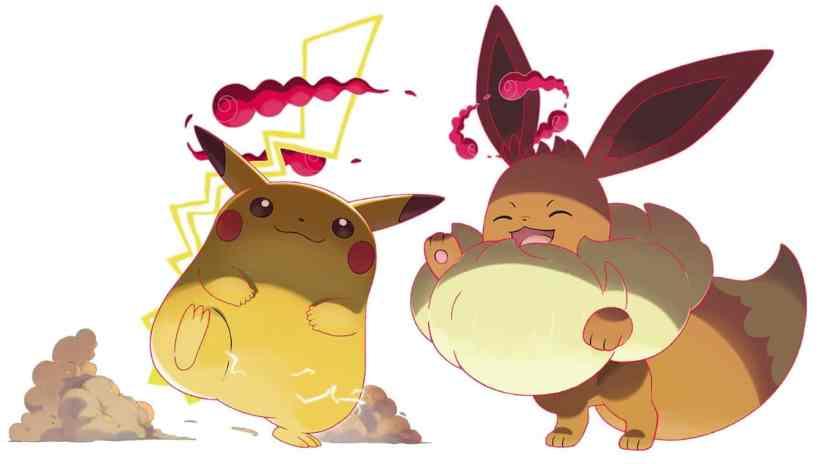 Pokemon Espada y Escudo Pikachu y Eevee Gigantamax