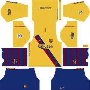 Equipación visitante del FC Barcelona - Kits de Dream League Soccer