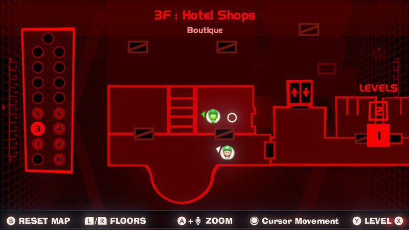 Gema roja de la boutique - Tercera planta