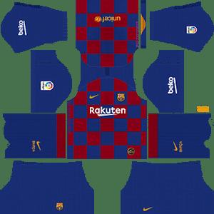 Kit de local clásico del FC Barcelona - Kits de Dream League Soccer