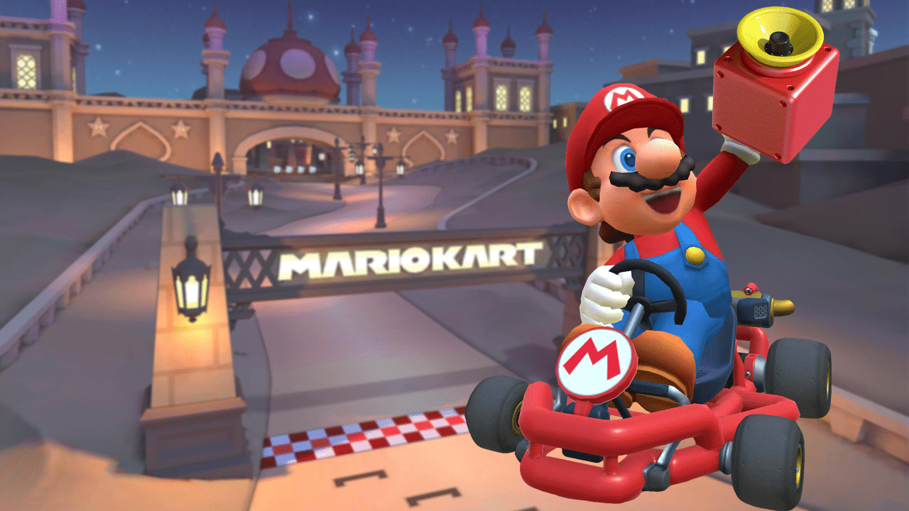 Mario Kart Tour: Hit 5 times with the Super Horn