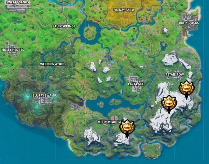 Fortnite - Mountain base camps locations