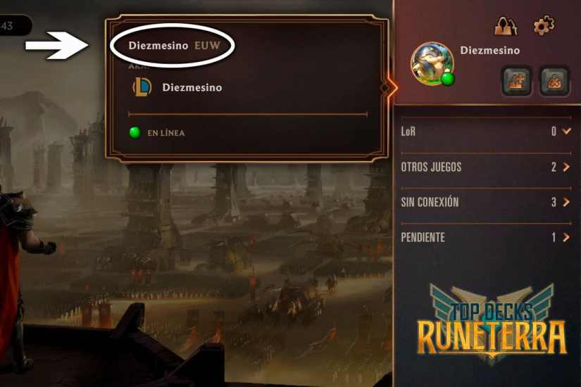 agregar amigos en legends of runeterra