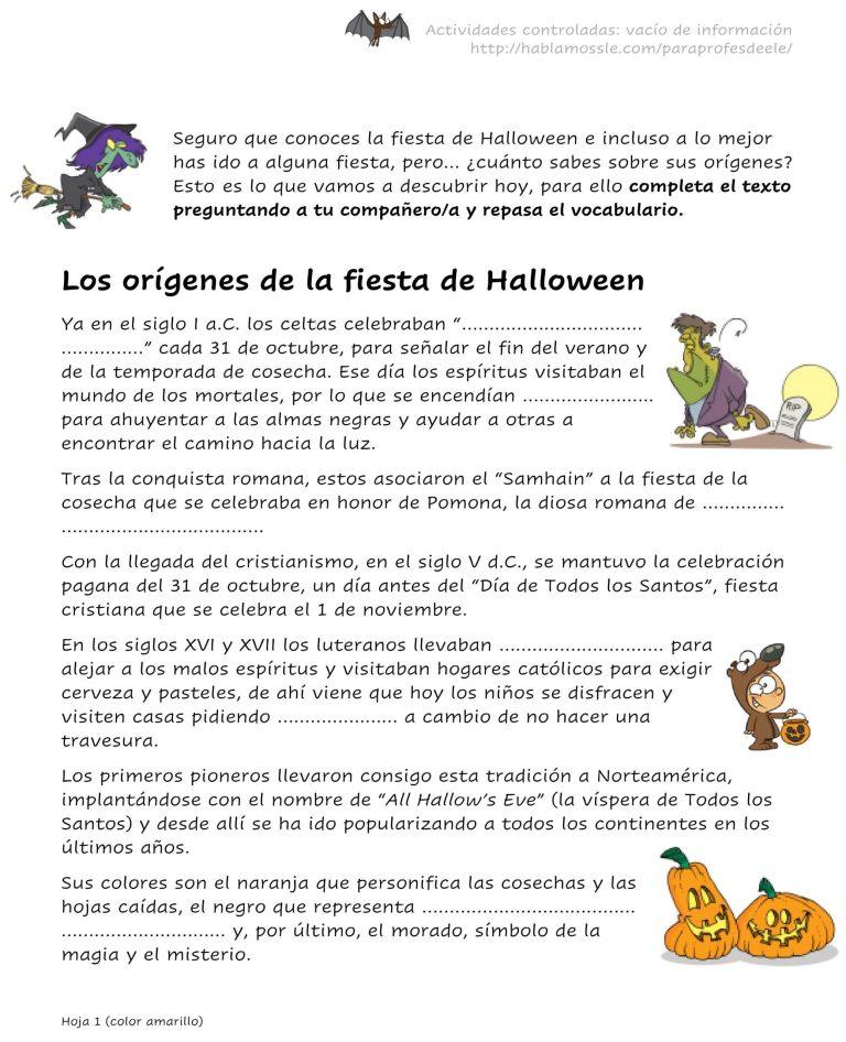 Vacío de información sobre el origen de Halloween