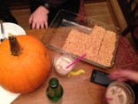 Pumpkins, Rice Crispy treats, mustaches and white russians.