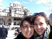 """Maria and me at the Yeni Cami or """"New Mosque"""""""