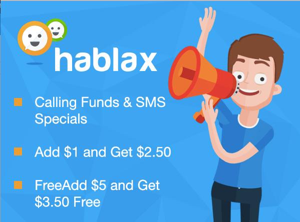hablax calling specials