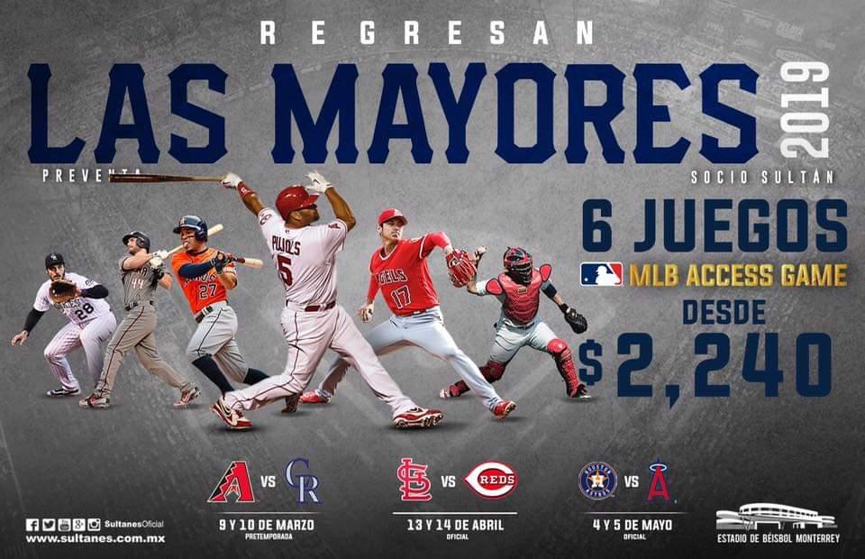 Arrancará venta libre de boletos para la series de MLB en Monterrey