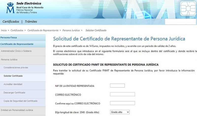 C mo obtener un certificado digital para nuestra for Oficina certificado digital