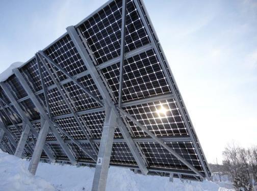 пример двусторонних солнечных панелей