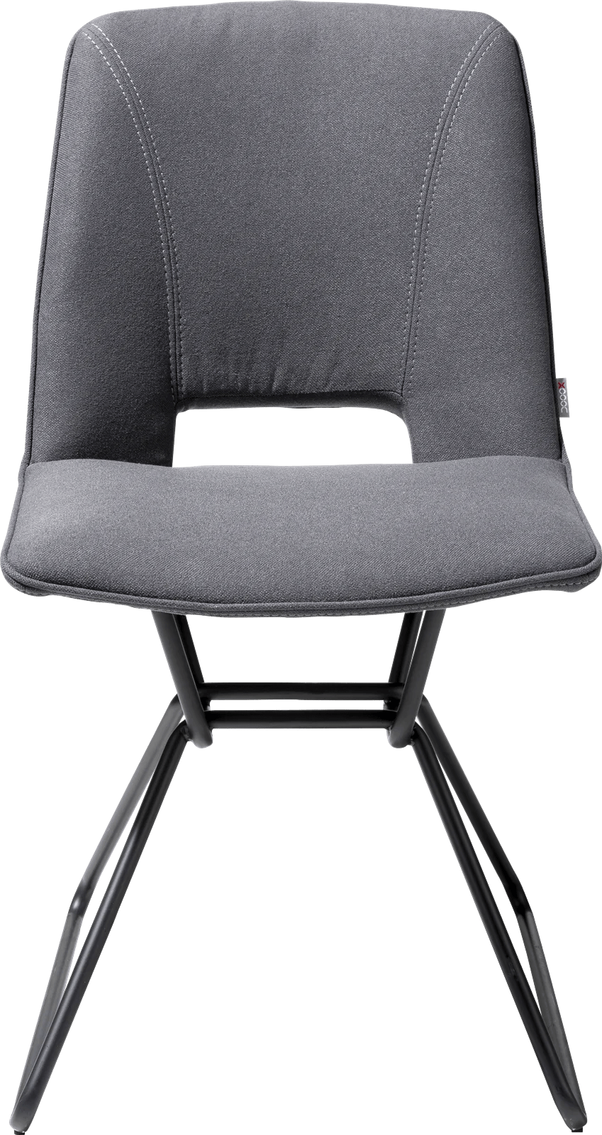 matiz chaise cadre noir tissu lana