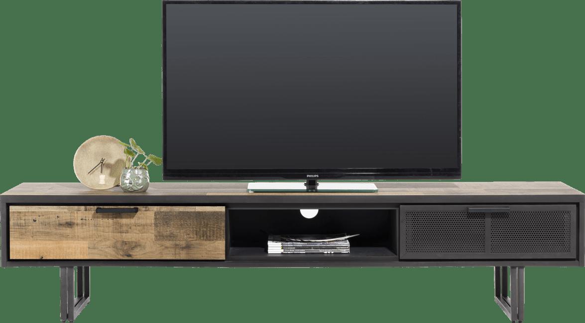 avalon meuble tv 200 cm 2 tiroirs 1 niche