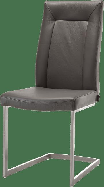 malvino chaise inox pied traineau carre