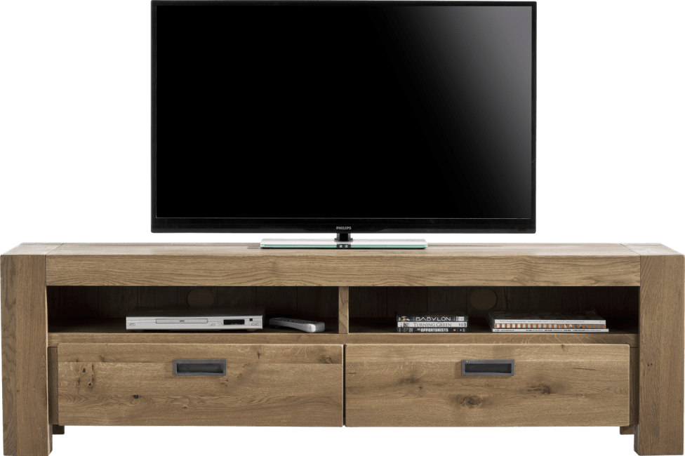 santorini meuble tv 180 cm 2 tiroirs 2 niches