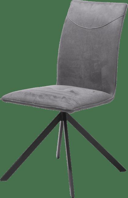 valerie chaise 4 pieds en metal noir tissu kibo