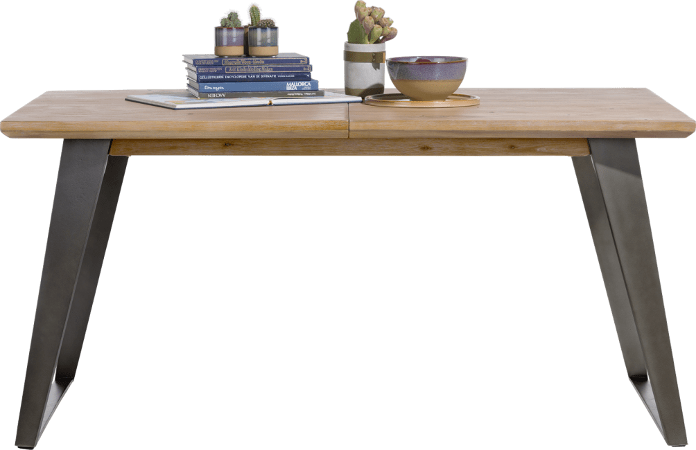box table a rallonge 160 50 x 100 cm pied carre