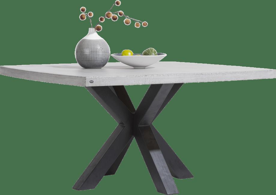 maestro table 130 x 130 cm plateau beton