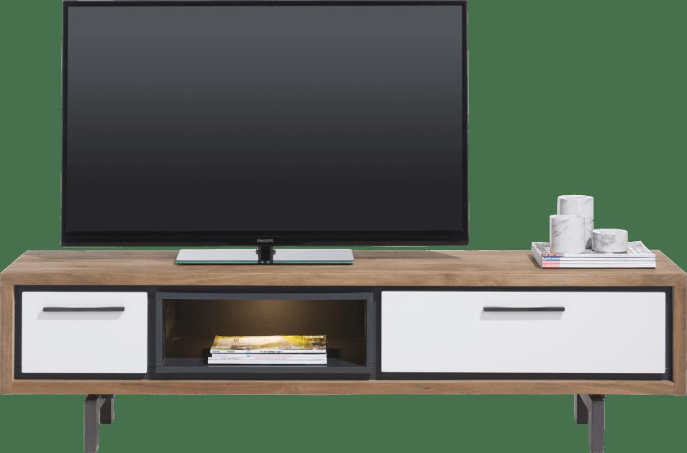 otta tv sideboard 170 cm 1 lade 1 klappe 1 nische led