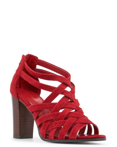 rouge sandals