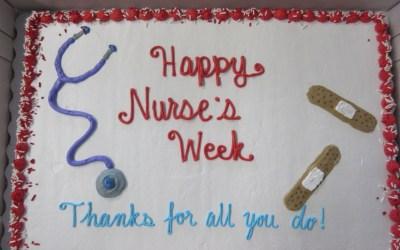 Ending Nurses' Appreciation Week with Cake!