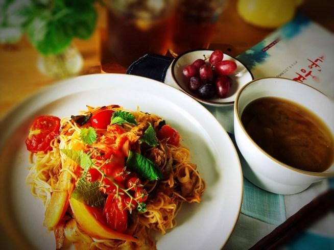 トマト&豚キムチのチャーハン