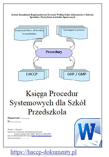 Księga Procedur Systemowych dla Szkoły Przedszkola
