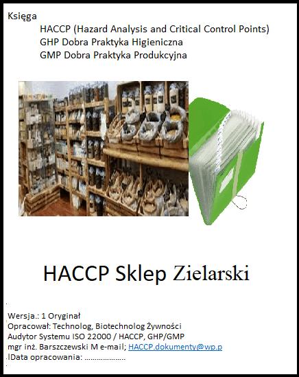 HACCP GHP GMP Sklep Zielarski