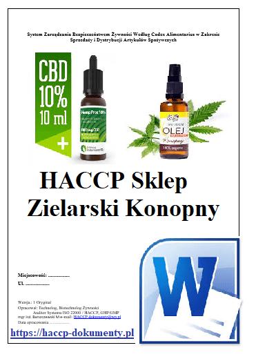 HACCP Sklep Zielarski Olej Konopny