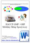 HACCP GMP/GHP Mobilny Sklep