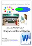 HACCP GHP/GMP Sklep Zielarsko Medyczny