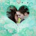 Fotomontaje de amor: corazones y anillos