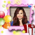 Fotomontaje para cumpleaños con globos y regalos
