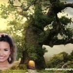 Fotomontaje de árbol fantástico