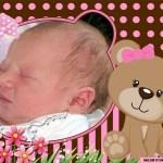 Fotomontaje de nacimiento gratis