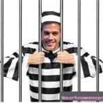 Divertido fotomontaje de prisionero