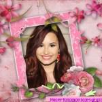 Fotomontaje para mujeres con suaves flores