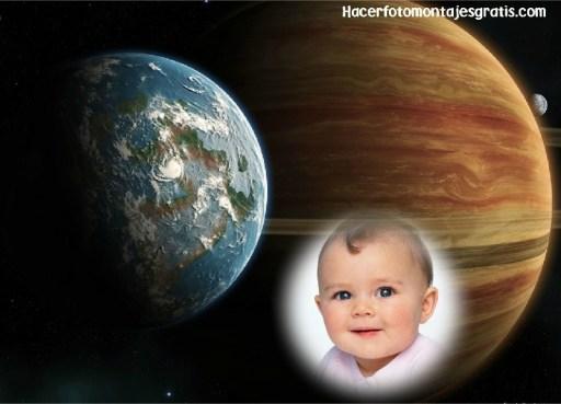 Fotomontaje del planeta tierra