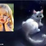 Fotomontaje de gatito de fantasía