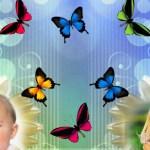 Fotomontajes con mariposas para dos fotos