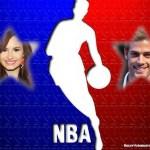 Fotomontaje de la NBA para dos fotos