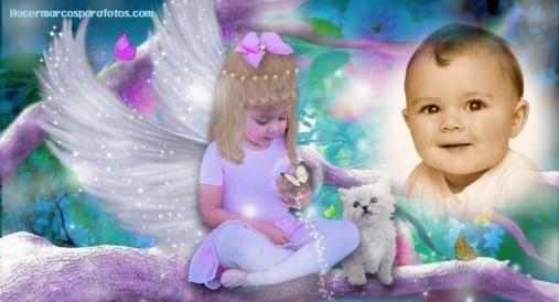 Fotomontaje de angelito bebe