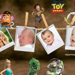 Fotomontaje de Toy Story para cuatro fotos