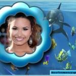 Bello fotomontaje junto a un delfín