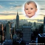 Fotomontaje con vista de edificios