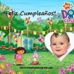Fotomontaje de Cumpleaños infantiles con Dora