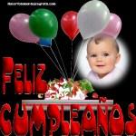 Fotomontaje gratis de Feliz Cumple con globos