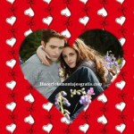 Hermoso fotomontaje con corazones