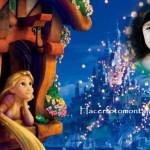 Fotomontaje infantil de Rapunzel